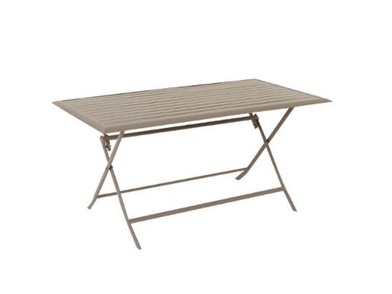 Table aluminium azua 6 places taupe hespéride - Vente de ...