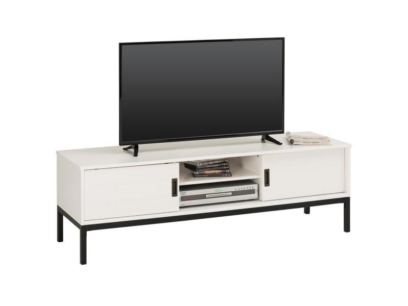 Meuble Tv Selma Banc Télé De 145 Cm Au Style Industriel Design