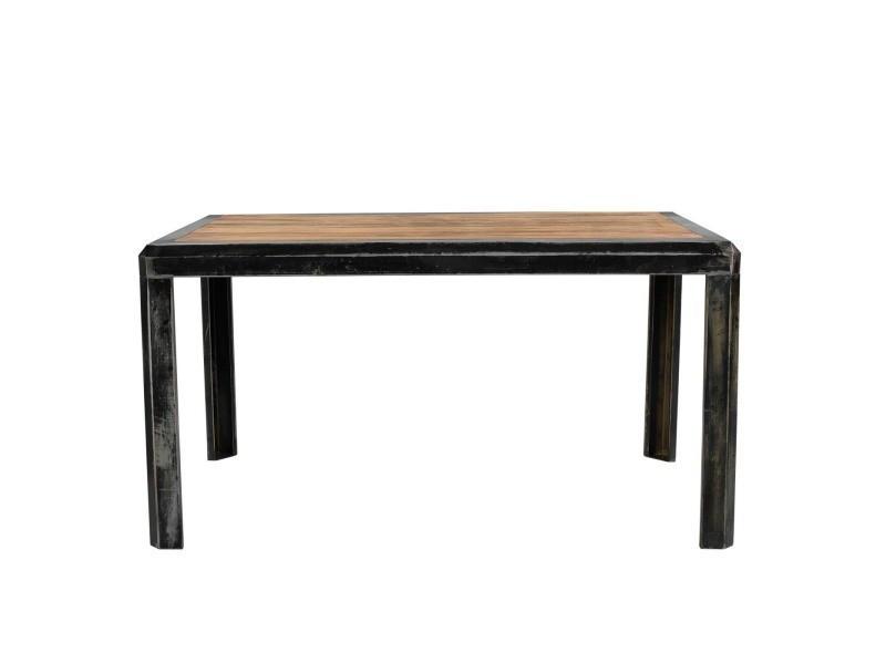 Table repas bi-matières 150 cm kirk - /marron - /marron