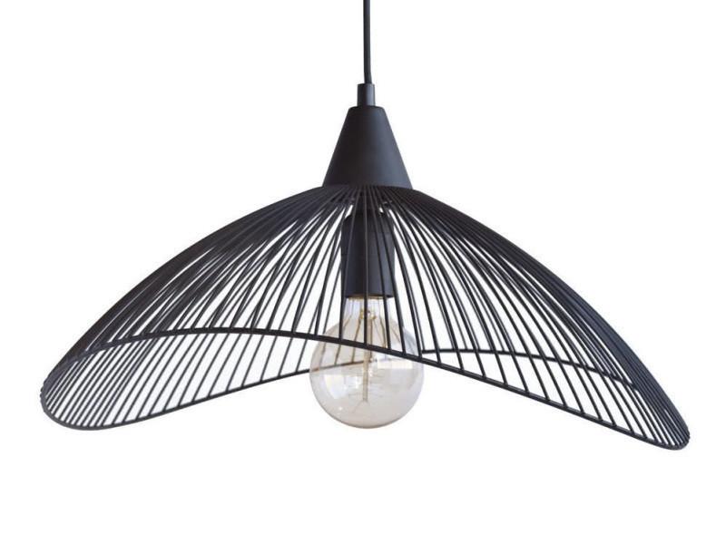 suspension filaire en m tal noir kasteli conforama. Black Bedroom Furniture Sets. Home Design Ideas