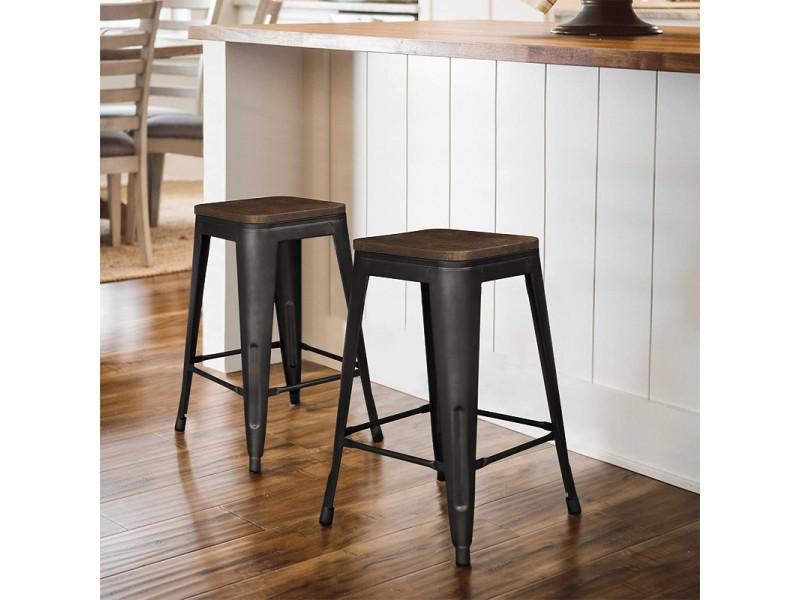 4 pcs chaises de bar,tabourets hombuy pour bistrot/ cuisine/ jardin/ restaurant