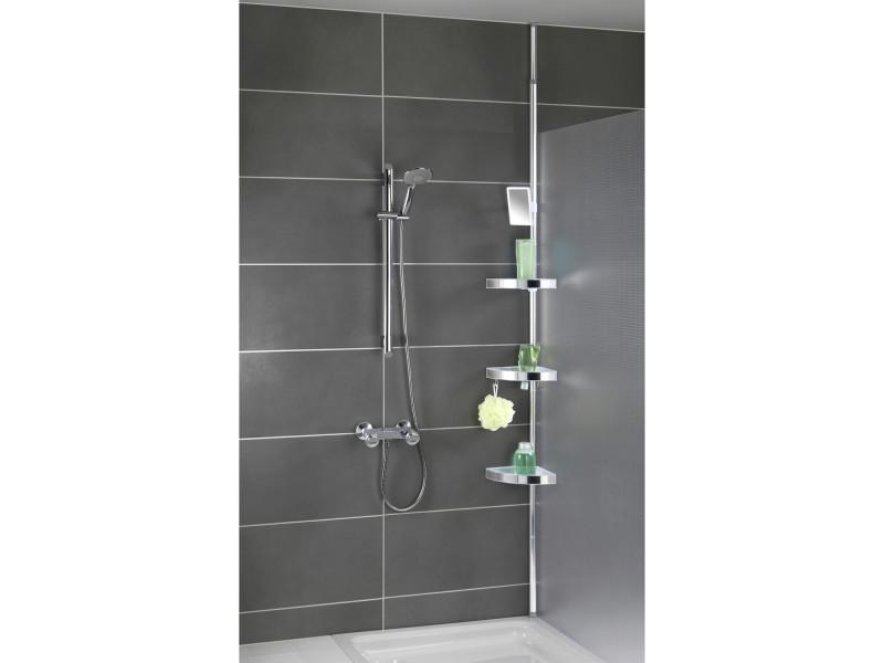 Etag re t lescopique premium aluminium et acier inox Accessoires salle de bain inox