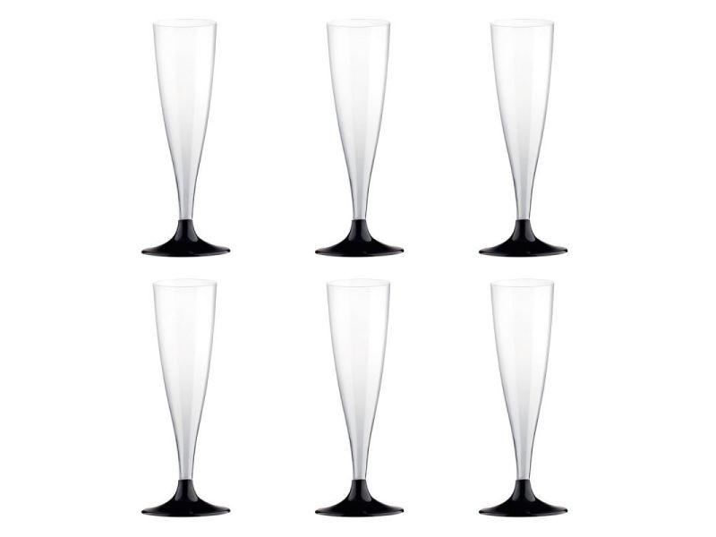 Paris prix - lot de 6 flûtes à champagne \