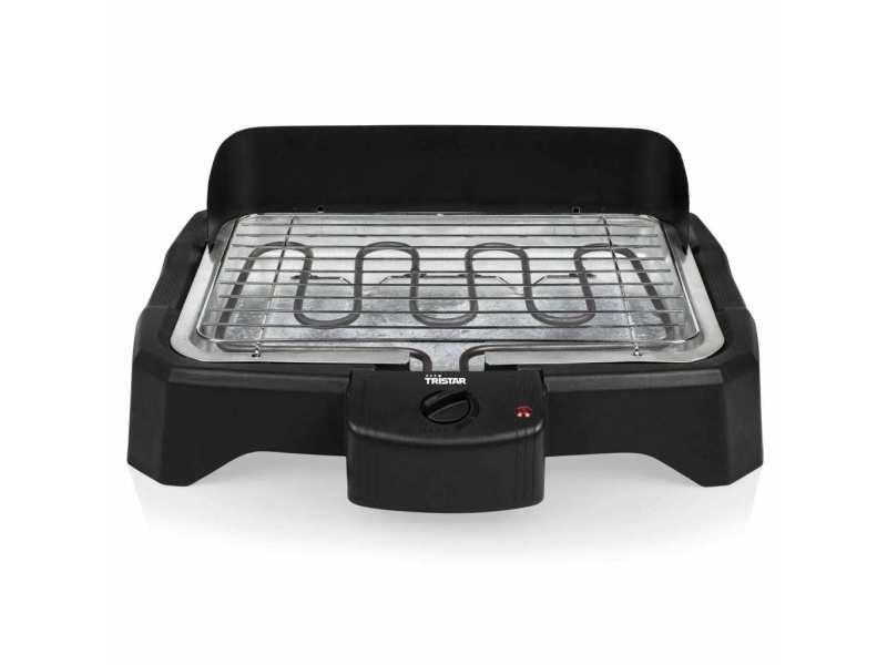 Chic électroménager de cuisine gamme riga tristar barbecue électrique de table 2000 w 34,5x23 cm noir