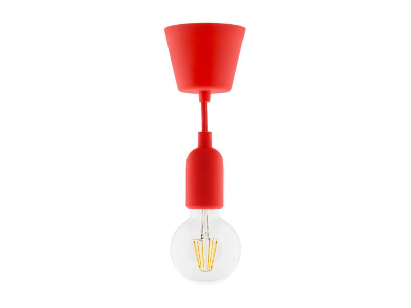 Kit De Suspension Déco Rouge En Silicone Avec Cordon Textile