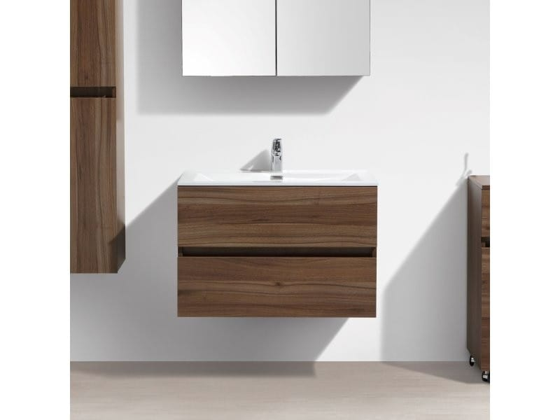 Meuble salle de bain design simple vasque siena largeur 80 ...