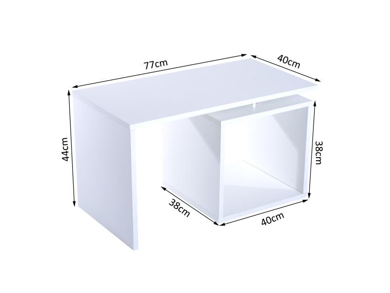 Table Basse Contemporaine Design Geometrique Carre Rectangulaire