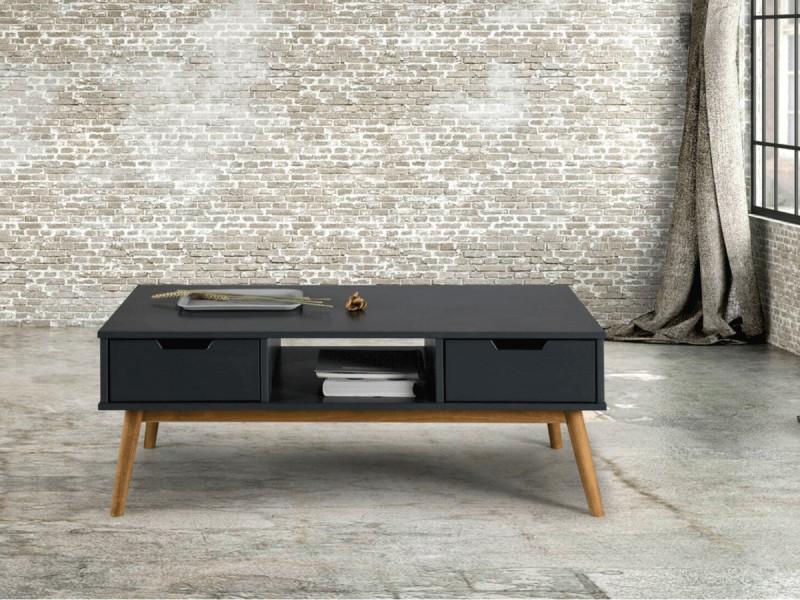 Bobochic table basse alma gris et bois clair