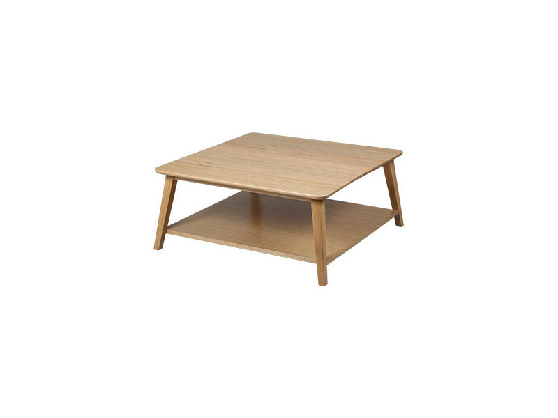 Table basse carrée en chêne massif - trendy