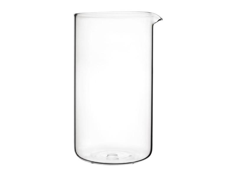 Verre de rechange pour cafetière à piston - 8 tasses - olympia - 9,6 cm 100 cl