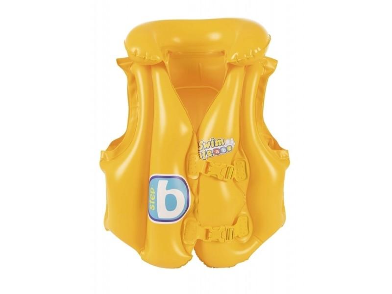 Gilet de natation swim safe step b - 52 x 47 cm - jaune