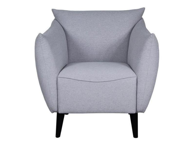 Lars fauteuil tissu gris perle l 71 x p 86 x h 82 cm