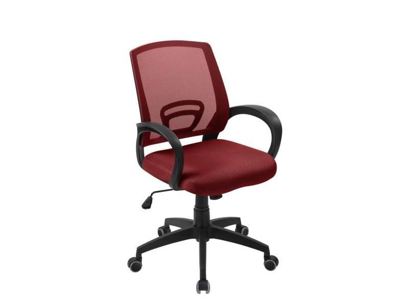 Kayelles flag chaise de bureau confort rouge flag rouge