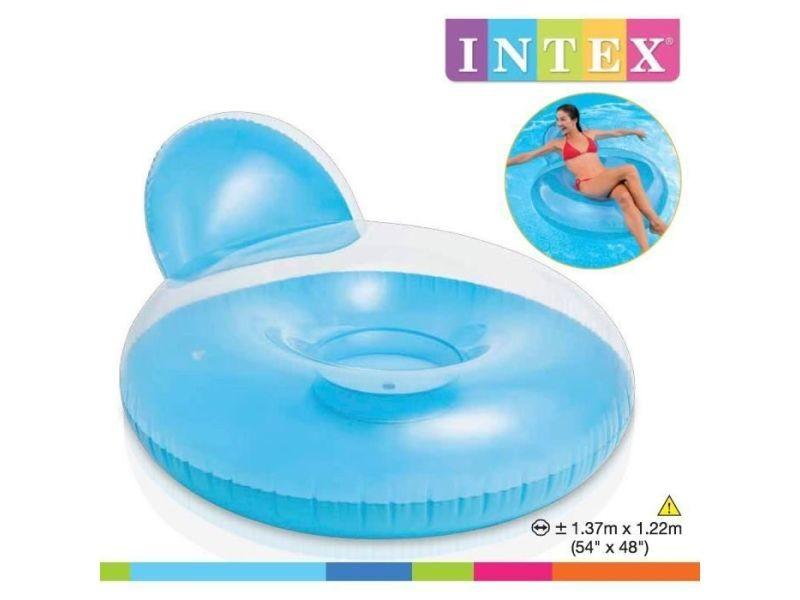 Fauteuil - chaise longue - matelas gonflable piscine fauteuil de piscine gonflable adulte glossy 137 x 122 cm (couleur aléatoire)