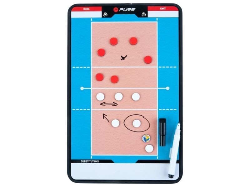 Splendide volley-ball ensemble palikir pure2improve tableau d'entraîneur volley-ball 35x22 cm p2i100690