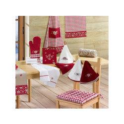 Galette de chaise montagne rouge 40 x 40 x 3 les ateliers du linge