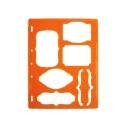 Fiskars - gabarit de découpe étiquette et accolades