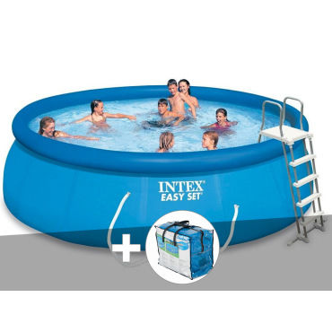 piscine autoport e intex easy set 4 57 x 1 22 m b che. Black Bedroom Furniture Sets. Home Design Ideas