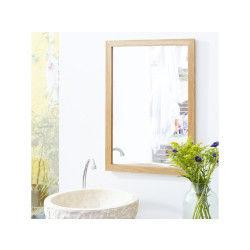 Miroir en chêne serena oak 70x50