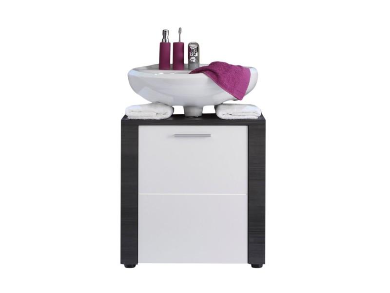 xpress meuble sous lavabo fr ne gris blanc lxhxp 70 x 57 x 35 cm conforama. Black Bedroom Furniture Sets. Home Design Ideas