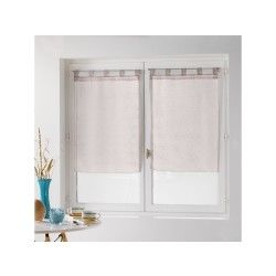Une paire de rideau voilage 60 x 90 cm coupe dandy lin
