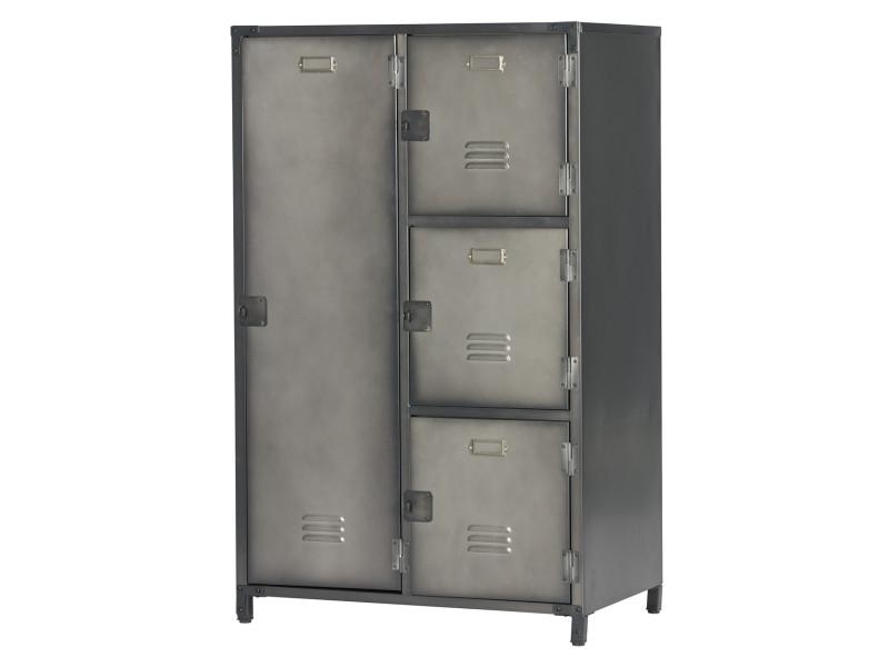 armoire métallique noire de 4 portes  dim  125 x 75 x 46