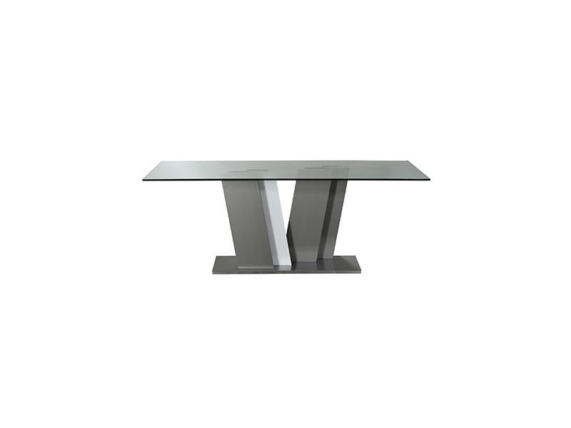 Table rectangulaire 190x90cm coloris blanc laqué