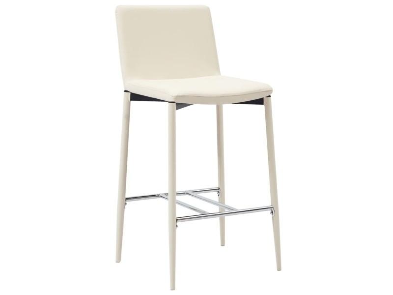 Icaverne tabourets de bar gamme chaises de bar 2 pcs crème