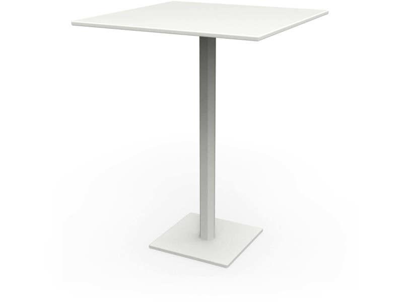 Tables carrées hexagone blanc nuage Ta_HEX_Car80_h75_Nua