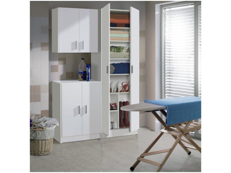 Armoire de rangement lison 2 portes l58,5cm x h180cm - blanc FOARM7146O