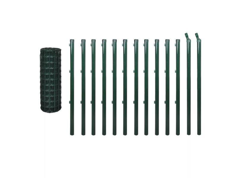 Icaverne - panneaux de clôture ligne kit de grillage 25 x 1,0 m