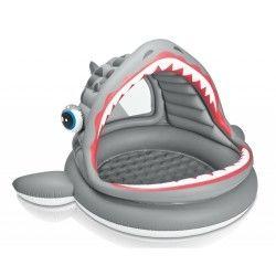 Piscine pour enfants requin avec pare-soleil