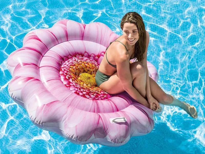 Matelas de piscine fleur - intex