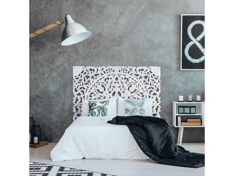 Tête de lit serena 160cm bois blanc