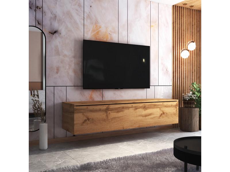 Meuble tv - skylara - 180 cm - chêne wotan
