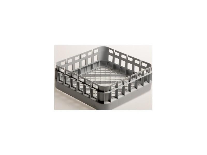 Panier carré à verres - hauteur 110 mm - polypropylène