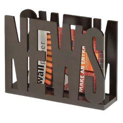 Porte-revues news mdf décor brun