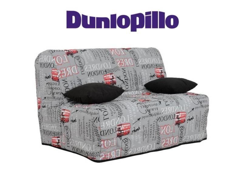 Canapé convertible bz milo london bus système slyde matelas dunlopillo 13cm couchage 160*200cm 20100875421