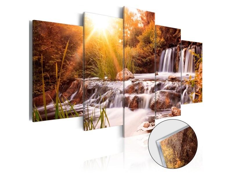 Tableaux en verre acrylique décoration murale motif vallée de l'automne 100x50 cm tva110124