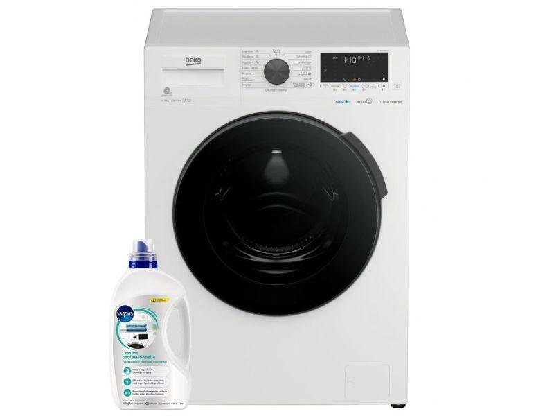 Lave-linge frontal 9kg a+++ 1200trs/min aquawave wi-fi connecté machine à laver hublot