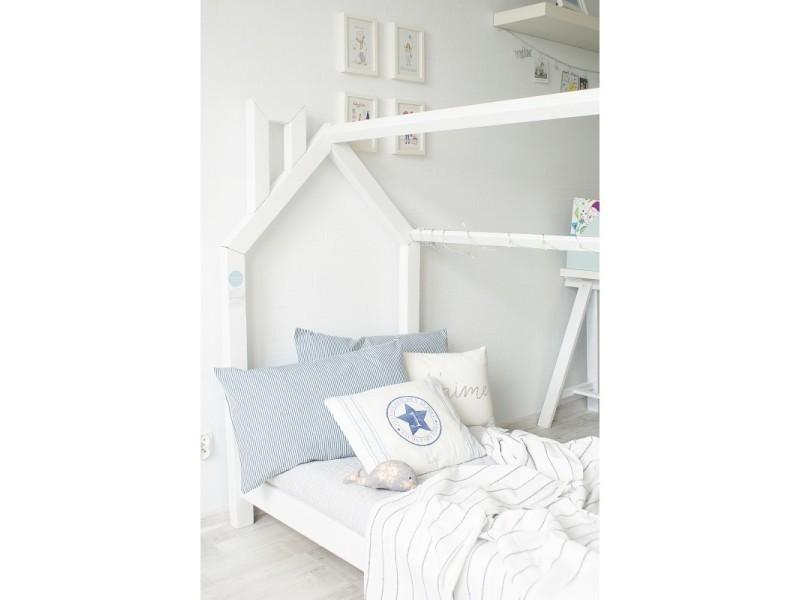 lit cabane c blanc 70x140 sommier vente de monlitcabane conforama. Black Bedroom Furniture Sets. Home Design Ideas