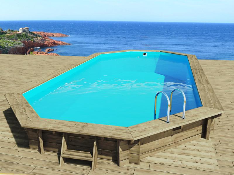 Piscine bois sevilla x x m vente de habitat et jardin conforama for Accessoire piscine bois