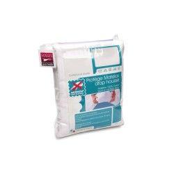 Protège matelas 90x190 cm antonin - molleton absorbant, traité anti-acariens