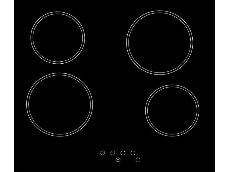 Sogelux table de cuisson vitrocéramique pv125 noire