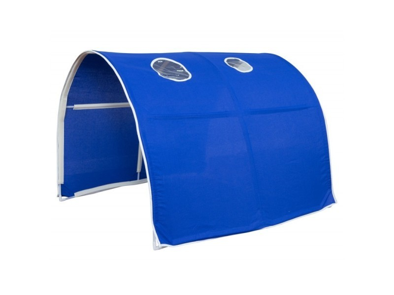 tunnel pour lit enfant superpos tente accessoires bleu. Black Bedroom Furniture Sets. Home Design Ideas