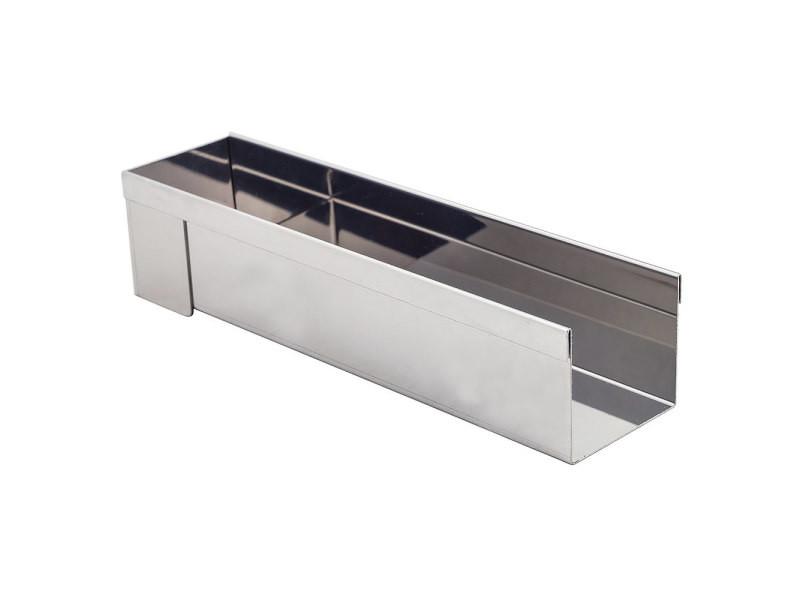 Gouttière inox rectangulaire 8x30cm - 3205.30 3205.30