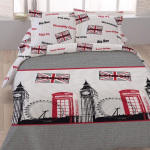 Housse de couette 220x240 piccadilly + 2 taies 100% coton