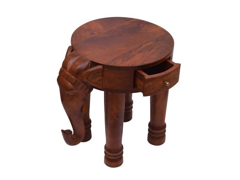 elephant en bois table basse stand portable outdoor indoor accueil salon conforama. Black Bedroom Furniture Sets. Home Design Ideas