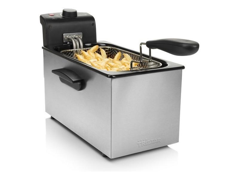 Friteuses contemporain friteuse tristar fr6946 3 l 2000w acier inoxydable