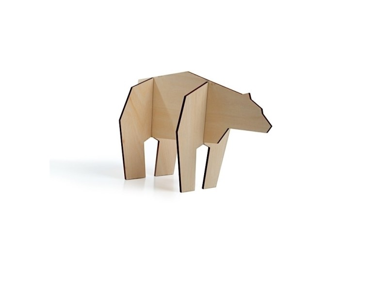 Puzzle en forme d'animaux - ours - taille s